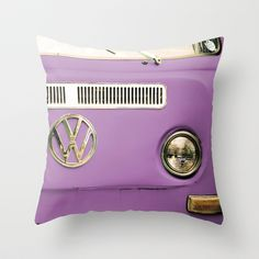 Summer of Love - Radiant Orchid Throw Pillow by Olivia Joy StClaire from Saved to Pillows. Purple Love, Shades Of Purple, Olivia And Joy, Combi Vw, Purple Interior, Red Throw Pillows, Style Deco, Dorm Decorations, Hippie Decorations