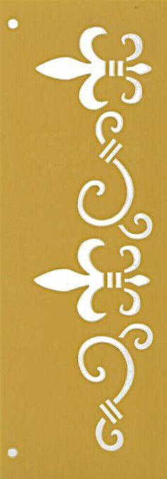 Stencil flexible template