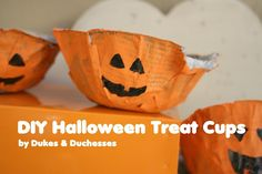 DIY halloween treat cups