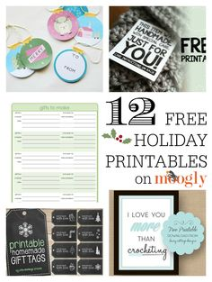 Free Holiday Printables for Crocheters, Crafters… & Everybody!