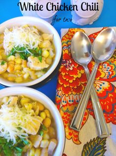 White Chicken Chili.  Quick, easy, and for two. ~The Complete Savorist