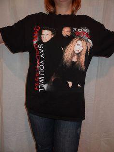 Fleetwood Mac Say You Will 2003 Tour Girls Juniors Pink T Shirt New Official