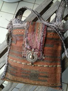 TERRA Earthy Tribal vintage carpetbag RESERVED by nomadicbags