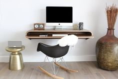 20% off on wall desks. Use code: 2017P320. Limited-time offer. Space-saving sleek wall desk from Orange22. An ideal modern day work station with rounded edges and a pull-out slider shelf. Use it as a sitting or standing desk. Easy to install and both practical & functional. Available in 2 sizes and 5 colors.