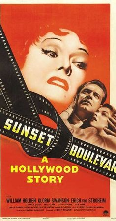 Sunset Boulevard Classic Cinema series Directed by Billy Wilder. With William Holden, Gloria Swanson, Erich von Stroheim, Nancy Olson. A hack screenwriter writes a screenplay for a former silent-film star who has faded into Hollywood obscurity. Best Movie Posters, Classic Movie Posters, Cinema Posters, Film Posters, Classic Movies, Old Movies, Vintage Movies, Great Movies, 2020 Movies