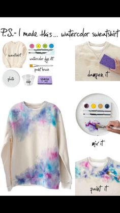 Cute way to spice up an old hoodie or tee shirt!