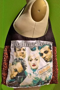 No Doubt Hobo Bag Upcycled TShirt Purse by TheCollectiveChaos