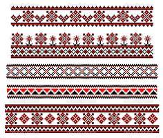 Линии вышивки — Cтоковый вектор #21596991