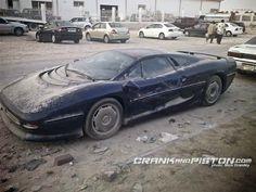 Abandoned Jaguar XJ220