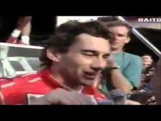 Ayrton Senna e Adriane Galisteu, após vitória no GP de Monte Carlo, 1993.