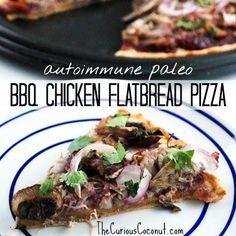 BBQ Chicken Flatbread Pizza (autoimmune paleo)