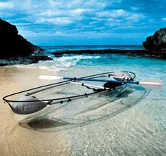 Transparent Canoe Kayak, This is pretty neat, but not sure I would want to see everything in the water, well as long as I was close to shore, I would be fine :-)