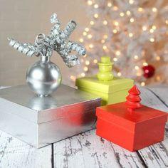 No-Wrap Holiday Gift Boxes