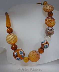 Astrid Riedel Glass Artist: The Hazelnut necklace!