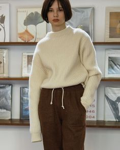 """Mi piace"": 638, commenti: 3 - @shop_amomento su Instagram: ""Today restocked item! . 7G Half neck sweater (ivory) . 꾸준히 많은 관심 가져주시고 기다려 주셨던 7G 하프 넥 스웨터 아이보리 색상이…"""