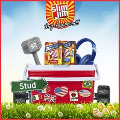 Build a basket with guy-approved gifts and you could win a $100 gift card. #SlimJimBoldBaskets