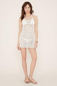 Floral Crochet Mini Dress - Women - Dresses - 2000140697 - Forever 21 EU English