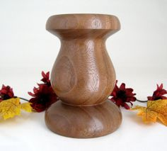 Walnut Candle Holder by DebsWoodshop on Etsy, $35.00