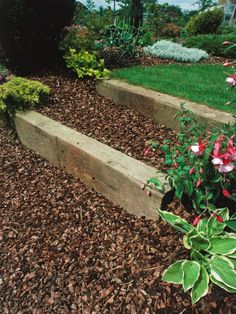 Explore ideas for landscaping with railroad ties. Learn about ...