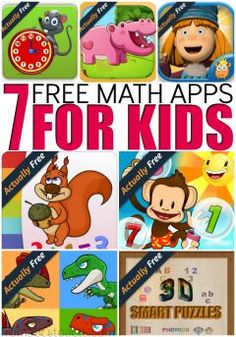 Working on or refreshing your child's math skills? These 7 free math apps for kids are completely free and can help them develop the necessary early math skills to help them throughout their educational career! Best Math Apps, Free Math Apps, Free Learning Apps, Learning Websites For Kids, Math Websites, Educational Apps For Kids, Kids Learning, Best Educational Websites, Teaching Ideas