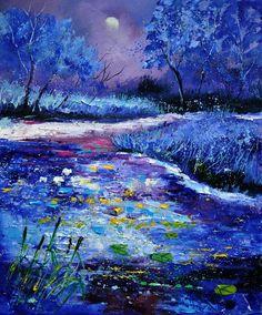 Pond Painting by Pol Ledent - Belgian artist