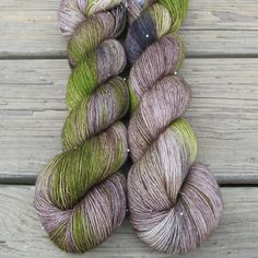 Originally created for the Surprise shipment of the 2013 Miss Babs Knitting Tour, Uberraschung features natural cream with shadings of taupe, brown, black, and splashes of bright green. This colorway