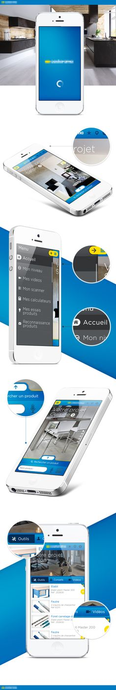 App project by Sylvain Weiss, via Behance