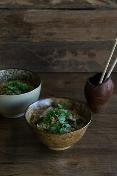 Vegan Congee with Shiitake Mushrooms by An Unrefined Vegan Vegan Soups, Vegan Vegetarian, Vegan Food, Healthy Everyday Meals, Clean Recipes, Healthy Recipes, Mushroom Vegetable, Christmas Breakfast, Brunch Recipes