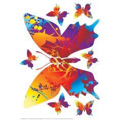 Eurographics  Colourful Butterflies Sticker : 14,90 TL | evmanya.com