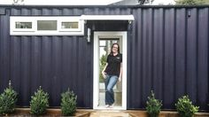 Brenda Kelly, who founded IQ Container Homes, has built her own first home - an 8 Homestar, 45 square-metre house made ...