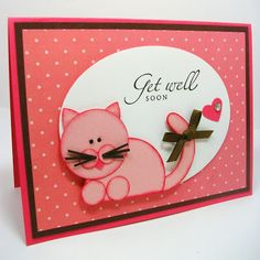 A case'd punch art kitty from Debbie Henderson. More on my blog. http://twohappystampers.blogspot.com...well-card.html