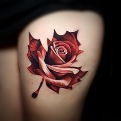 Rose-Leaf #realink #inkspiration artist: Calmuc Dragos
