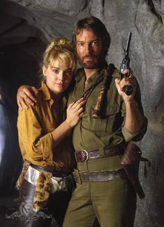 Sharon Stone and Richard Chamberlain on the set of Allan Quatermain and the Lost City of Gold directed by Gary Nelson, 1987 Richard Chamberlain, H Rider Haggard, Divas, King Solomon's Mines, Best Sci Fi Shows, Lost City Of Gold, League Of Extraordinary Gentlemen, Hooray For Hollywood, Sharon Stone