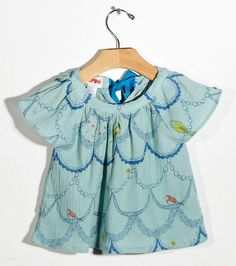 Aqua Bird Blouse