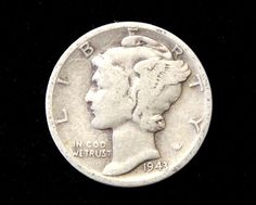 1943 Good or Better Mercury Dime! 90% Silver!  . Starting at $1