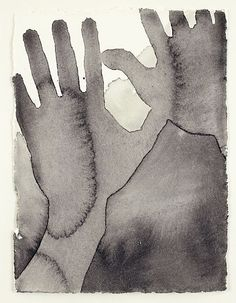 Antony Gormley ~ Touch, 1996 (pigment on paper) Life Drawing, Figure Drawing, Painting & Drawing, Antony Gormley, Louise Bourgeois, Timberwolf, Sculpture Projects, Art For Art Sake, Watercolor And Ink