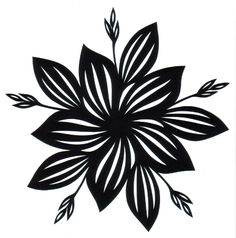 (Lots of Stencils on this site) cut paper design Five-Fold Hosta Star Quilling Patterns, Stencil Patterns, Stencil Art, Stencil Designs, Canvas Patterns, Stencils, Flower Silhouette, Silhouette Design, Cut Out Canvas