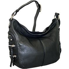 Nino Bossi Hobo With Side Pockets - Black - via eBags.com!