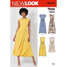 Simple Knit Dress Pattern 20 Must Sew Free Girls Dress Patterns Sew Much Ado. Simple Knit Dress Pattern How To Make A Dress 25 Free Dress Patterns… Continue Reading → New Look Patterns, Simplicity Sewing Patterns, Coat Patterns, Vogue Sewing Patterns, Pattern Sewing, Summer Patterns, Clothing Patterns, Patron Simplicity, Patron Butterick