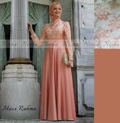 Jual Baju Gamis Rahma Peach - http://tokogamismodern.com/jual-baju-gamis-rahma-peach/