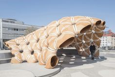 Studying the constructional morphology of sand dollars, the ICD and ITKE built a structure that showcases the potential of computational design, simulation and fabrication processes in architecture.