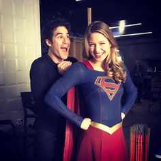 darrencriss: Up up and away we go, #supergirl! @supergirlcw