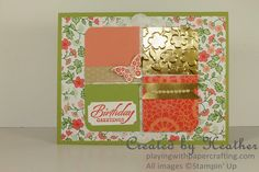 Playing with Papercrafting: Gold Soiree Delicate for As You See It Challenges: http://www.playingwithpapercrafting.com/2015/04/gold-soiree-delicate-for-as-you-see-it.html