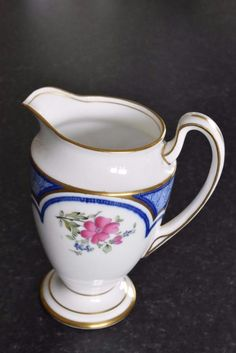 Antique Aynsley printed and painted decorative floral jug c.1890 (A900) | eBay