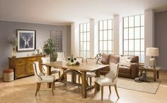 Bridge Dining Table with Camelia Chairs