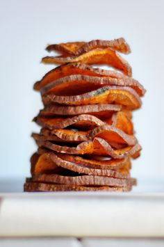 Healthy Microwave Sweet Potato Chips ~ These chips, you guys, are seriously amazing. They're a quick and healthy snack that you can truly season however you want.