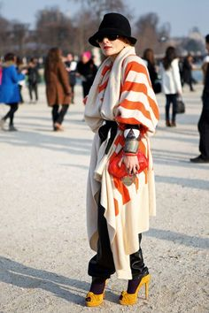Catherine Baba in Tsumori Chisato // Paris Fashion Week