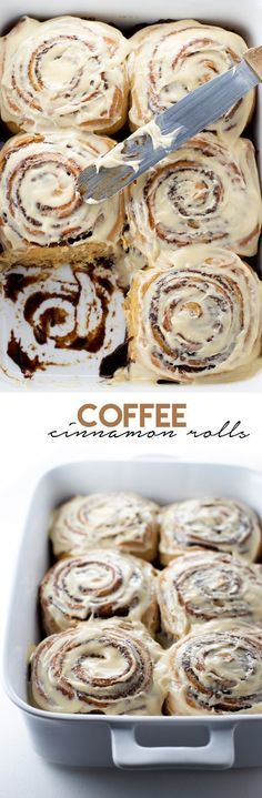 Coffee Cinnamon Rolls with Coffee Cream Cheese Frosting