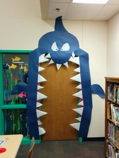 My shark door for Under the Sea Scholastic book fair. :)