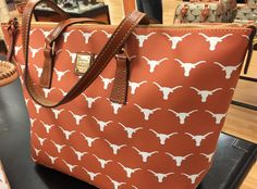 The new Burnt Orange Dooney & Bourke Texas Longhorn Tote!  We love it!  And it holds so much!